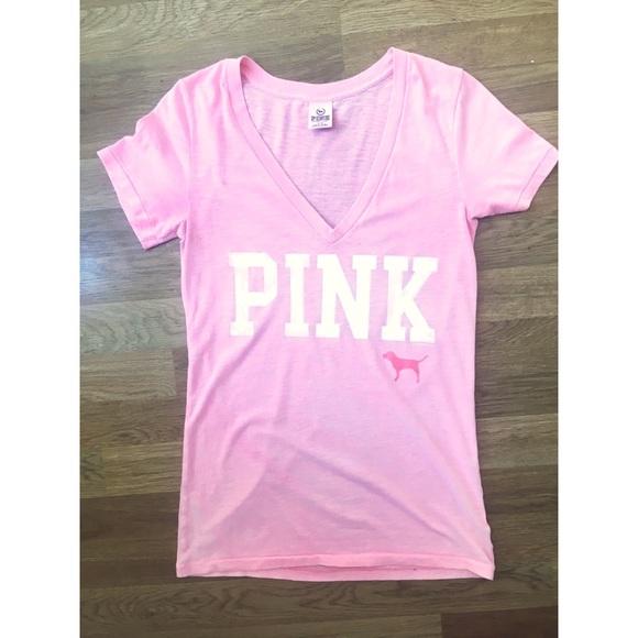 4f0bad18cb244 Victoria's Secret PINK V-neck Tee